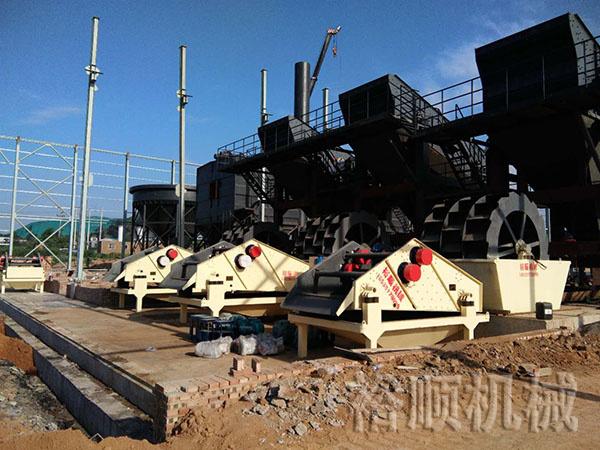 细砂回收机和轮斗式洗砂机的配置方案